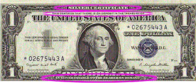 One Dollar Silver Certificate